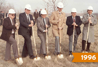 1996 - Executives 'breaking' first ground on the future site of the 2501 building