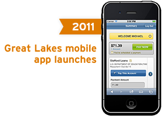 2011 - Great Lakes mobile app launches