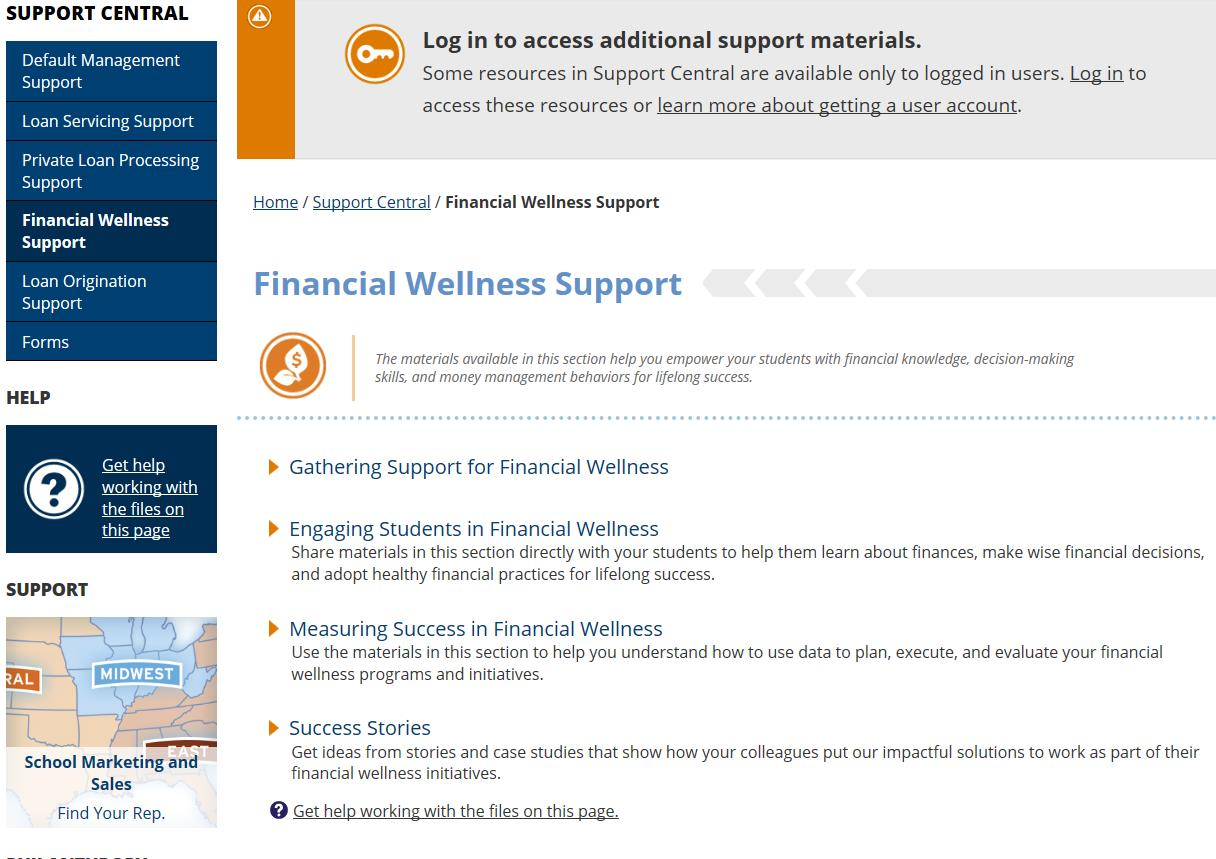 Financial Wellness Support Page